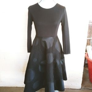 Black on Black Polka Dot Cocktail Dress